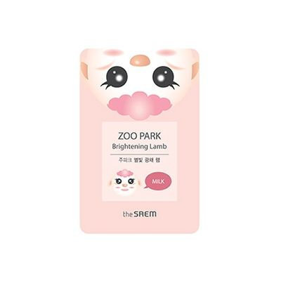 The Saem - Zoo Park Brightening Lamb Mask Sheet 1pc 25ml