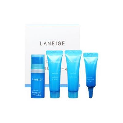 Laneige - Water Bank Trial Kit: Essence EX 10ml + Gel Cream 10ml + Moisture Cream 10ml + Eye Gel 3ml 4pcs