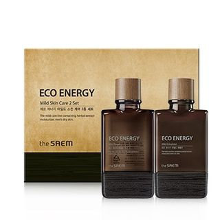 The Saem - Eco Energy Mild Skin Care Set: Toner 150ml + 30ml + Emulsion 150ml + 30ml 4pcs