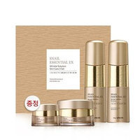 The Saem - Snail Essential EX Wrinkle Solution Skin Care Set: Toner 150ml + Emulsion 150ml + Cream 60ml + Eye Cream 30ml 4pcs