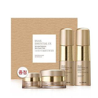 The Saem - Snail Essential EX Wrinkle Solution Skin Care Set: Toner 150ml + Emulsion 150ml + Cream 60ml + Eye Cream 30ml 4pcs
