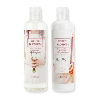 skin soul & beauty - I Belivyu White Blossom Romantic Flower Body Set: Body Wash 300ml + Body Cream 300ml 2pcs
