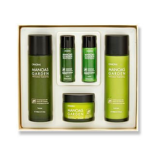 ONNIONNI - Manoas Garden Set: Toner 140ml + 30ml + Emulsion 140ml + 30ml + Cream 50ml 5pcs