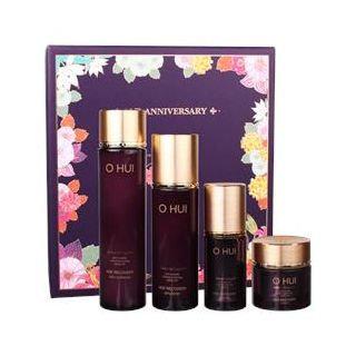 O HUI - Age Recovery Beautiful Face Campaign Set: Softener 150ml + Emulsion 100ml + Essence 20ml + Cream 20ml 4pcs