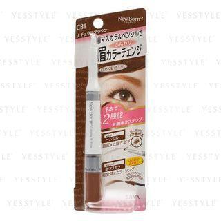Sana New Born Eyebrow Mascara And Pencil CB1 (Natural Brown)