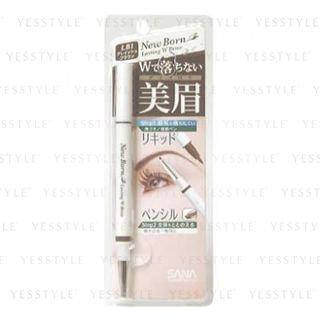 Sana New Born Eyebrow Liquid and Pencil (Grayish Brown)