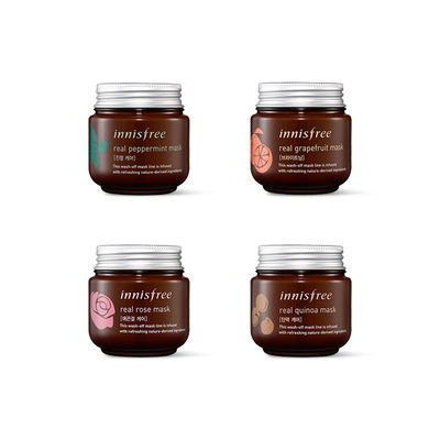 Innisfree - Real Mask 100ml #Real Peppermint Mask (Calming)