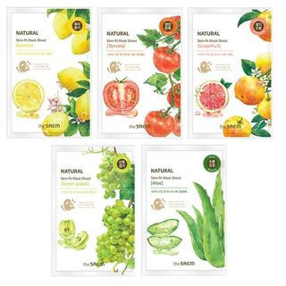 The Saem - Natural Skin Fit Mask Sheet 1pc (5 flavors) Lemon