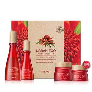 The Saem - Urban Eco Waratah Skin Care Set: Toner 180ml + Lotion 140ml + Cream 60ml + Eye Cream 30ml 4pcs