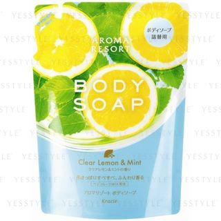 Kracie - Aroma Resort Body Soap (Clear Lemon and Mint) (Refill) 350ml