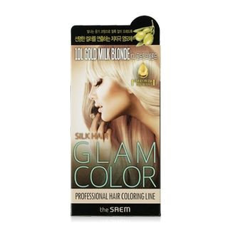The Saem - Silk Hair Glam Color Cream (#10L Gold Milk Blonde) 40g + 80ml