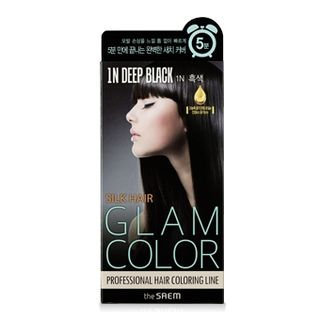 The Saem - Silk Hair Glam Color Speedy Cream (#1N Deep Black) 60g + 60g