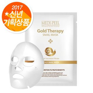 MEDI-PEEL - Gold Therapy Snail Mask 1pc 23ml