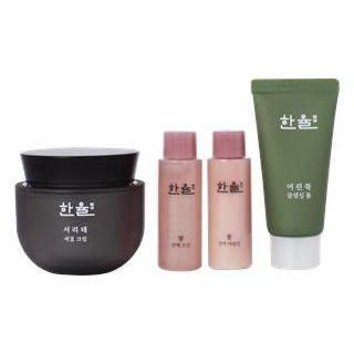 HANYUL - Seo Ri Tae Antiaging Cream Set: Cream 50ml + Rice Essential Skin 18ml + Emulsion 18ml + Mugwort Cleansing Foam 32ml 4pcs