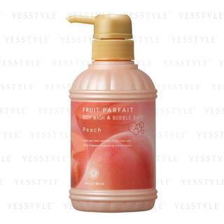 House of Rose - Fruit Parfait Body Wash and Bubble Bath Peach 400ml