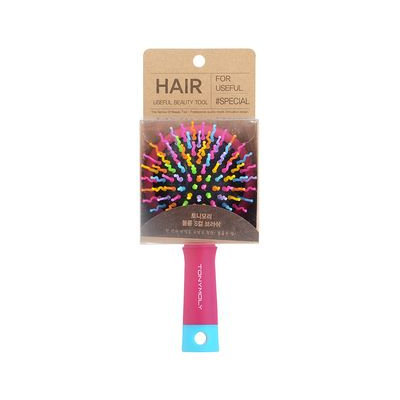 Tony Moly - Volume S Curl Brush Pink + Sky Blue