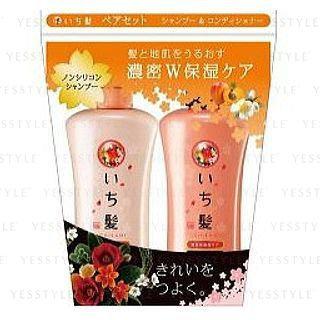 Kracie - ICHIKAMI Moisturizing Hair Set: Shampoo 530ml + Conditioner 530ml 2 pcs