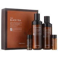 Tony Moly - The Black Tea London Classic Set: Toner 180ml + 20ml + Emulsion 160ml + 20ml 4pcs