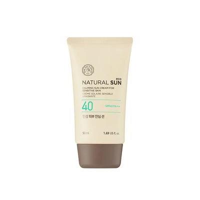 The Face Shop - Natural Sun Eco Calming Sun Cream for Sensitive Skin SPF40 PA+++ 50ml