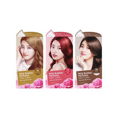 The Face Shop - Mild Bubble Perfume Hair Color (#7A Cinnamon Brown) 90ml 90ml