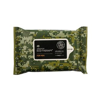The Face Shop Arsainte Eco-Therapy For Men Grooming Cleansing Wipes