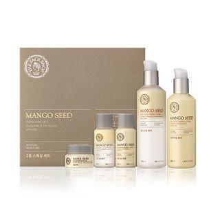 The Face Shop - Mango Seed Skin Care Set: Toner 130ml + 32ml + Lotion 130ml + 32ml + Volume Butter 10ml 5pcs