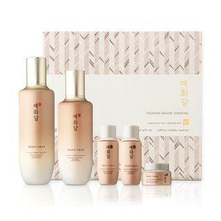 The Face Shop - Yehwadam Heaven Grade Ginseng Regenerating Set: Toner 1550ml + 32ml + Emulsion 140ml + 32ml + Cream 30ml 5pcs