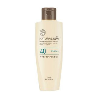 The Face Shop - Natural Sun Eco Body & Family Mild Sun Milk SPF40 PA+++ 120ml 120ml