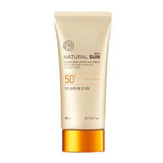 The Face Shop - Natural Sun Eco Power Long-lasting Sun Cream SPF50+ PA+++ 80ml 80ml