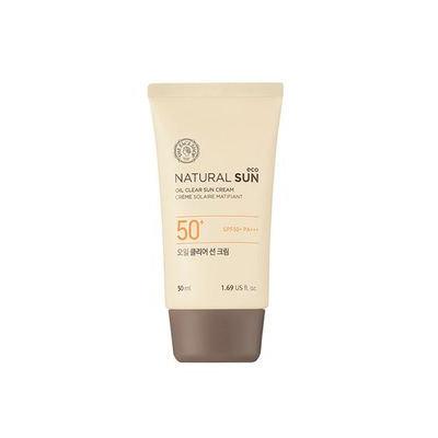 The Face Shop - Natural Sun Eco Oil Clear Sun Cream SPF50+ PA+++ 50ml 50ml