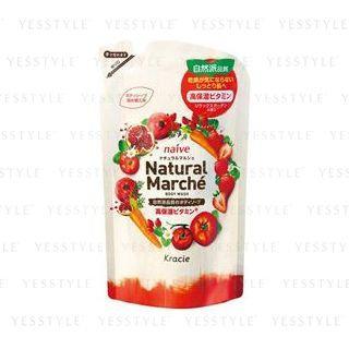 Kracie - Na ve Natural Marche Body Wash (Pomegranate and Strawberry) (Refill) 360ml