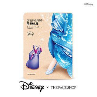 The Face Shop - Disney Cinderellas Glass Shoes Foot Mask 1pair 18ml