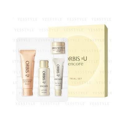 Orbis - =U Encore Oil Cut Trial Set: Brightening Jelly Wash 20g + Lotion 20g + Day Milk 8g + Night Creamy Gel 5g 4 pcs