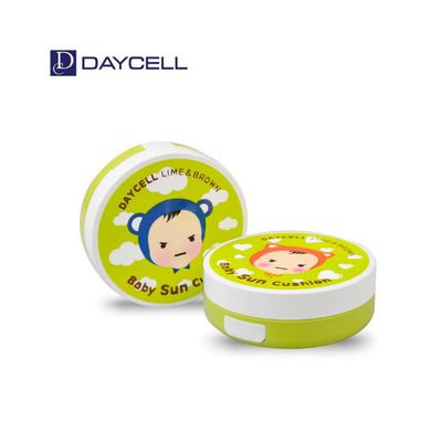 DAYCELL - Lime & Brown Baby Sun Cushion D.I.Y SPF25 PA++ 50ml + Case (Girl) 2pcs