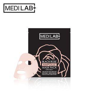 DAYCELL - MEDI LAB Black Rose Ampoule Mask Pack (Ultra Aqua) 1pc 25g