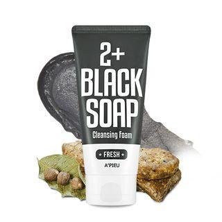 A'pieu APIEU - Fresh Black Soap 2+ Cleansing Foam 130ml 130ml