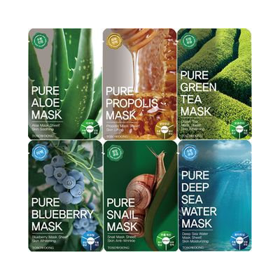 TOSOWOONG - Pure Mask Pack 1pc Deep Sea Water