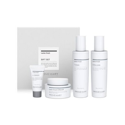 PROUD MARY - Lacto-Fresh Gift Set: Toner 150ml + Emulsion 150ml + Cream 50ml + Whipping Cleanser 20ml 3pcs
