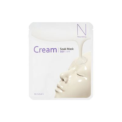 Missha - Cream Soak Mask (Nourishing) 1pc 23g