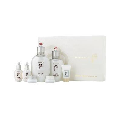 The History of Whoo - Gongjinhyang Seol Radiant White Special Set: Balancer 150ml + 20ml + Emulsion 110ml + 20ml + Brightening Gel 13ml + Moisture Cream 4ml + Intensive Corrector 4ml 7pcs
