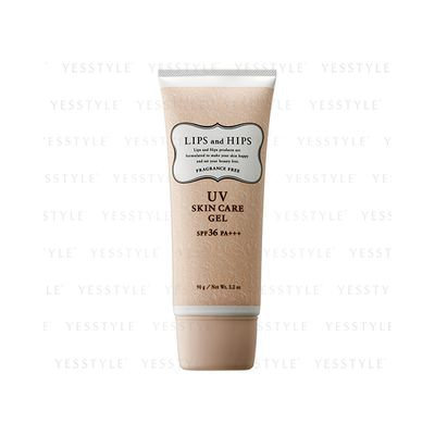 LIPS and HIPS - UV Skin Care Gel SPF PA+++ (Fragrance Free) 90g