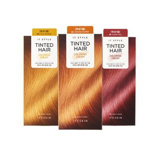 It's Skin Its skin - It Style Tinted Hair Coloring Cream: Hairdye 60g + Oxidizing Agent 60g #Gold Blonde 10N