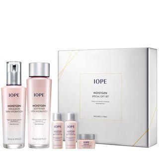 IOPE - Moistgen Skin Hydration Special Set: Softener 150ml + 15ml Emulsion 130ml + 15ml + Cream 5ml 5pcs