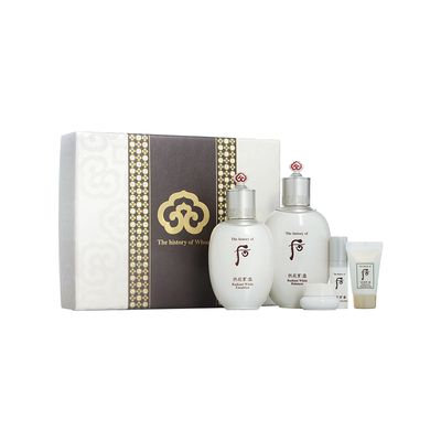 The History of Whoo - Gongjinhyang Seol Special Set: Radiant White Balancer 150ml + Emulsion 110ml + Moisture Cream 4ml + Eye Serum 5ml + Brightening Cleansing Foam 13ml 5pcs