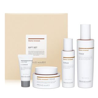 PROUD MARY - Stems Renewal Gift Set: Toner 150ml + Serum 50ml + Cream 50ml + Lacto-Fresh Whipping Cleanser 20ml 4pcs