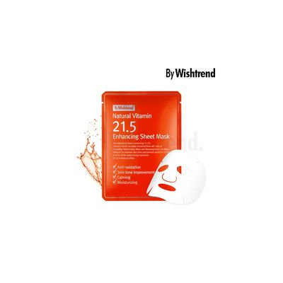 By Wishtrend - Natural Vitamin 21.5 Enhancing Sheet Mask 1pc 1pc x 23g