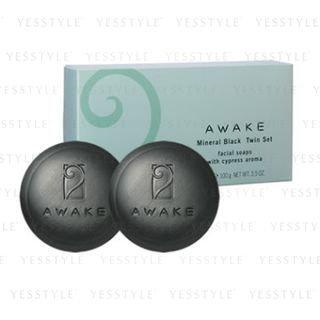 Kose - AWAKE Mineral Black Facial Soap 2 pcs
