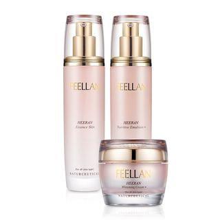 BELLAMONSTER - FEELLAN Heeran Basic Set: Essence Skin 120ml + Nutritive Emulsion 120ml + Whitening Cream 50ml 3pcs