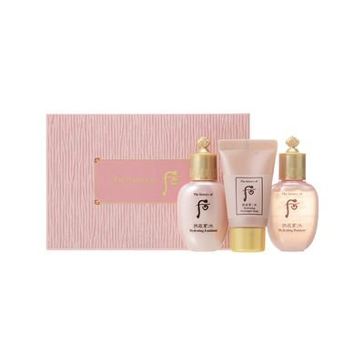 The History of Whoo - Gongjinhyang: Soo Special Gift Set: Hydrating Balancer 20ml + Emulsion 20ml + Overnight Mask 13ml 3pcs
