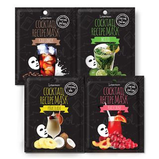Berrisom - Cocktail Recipe Mask 10pcs (4 Types) Peach Crush